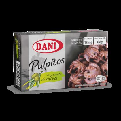Pulpitos en aceite de oliva dani x106 grs