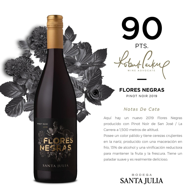 Vino Tinto Santa julia flores negras  x750cc