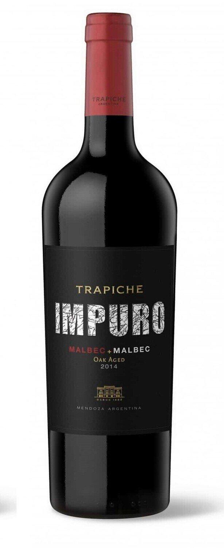Vino Trapiche impuro malbec x750cc