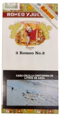 Habano Romeo y julieta N2 tubo x3