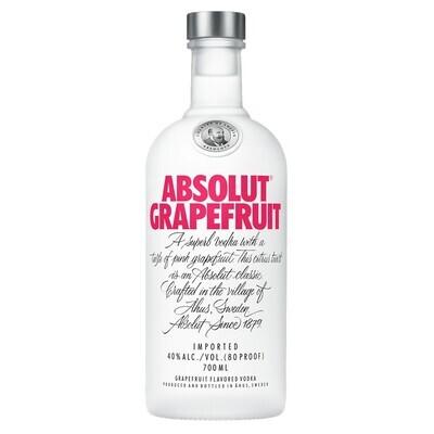 Vodka absolut grapefruit x750cc