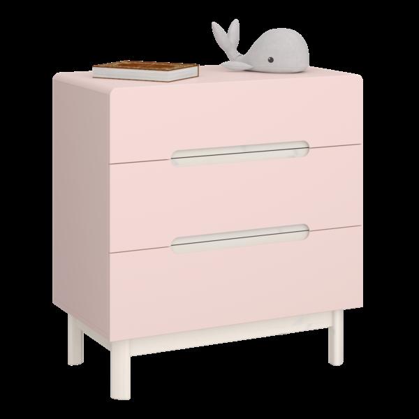 Oniria 3 Drawer chest pink/white