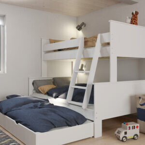 Alba triple bunk set white