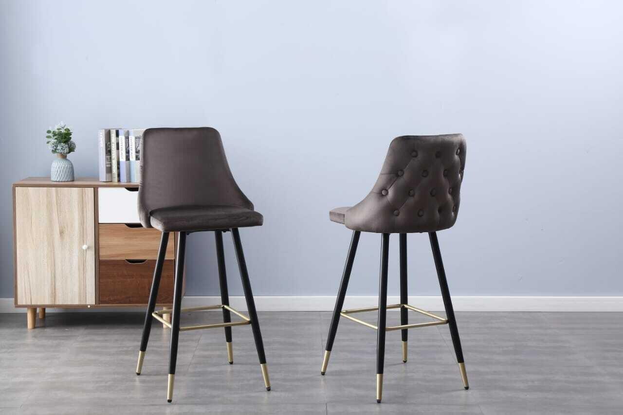 Tuscany bar stool (set of 2) grey