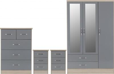 Nevada bedroom set grey