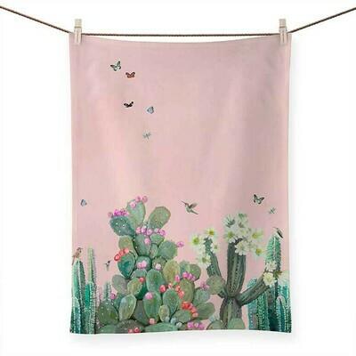 Cacti Garden Tea Towel