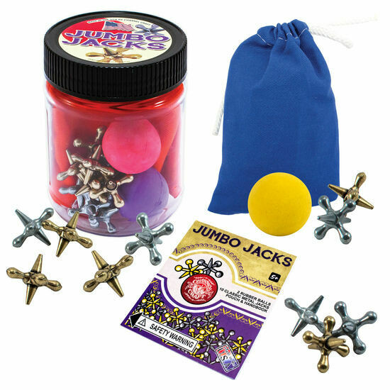 Jumbo Jacks Toy Jar with Color Canvas Pouch