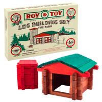 Roy Toy Log Farm in a Box (50 pieces