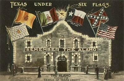 Vintage San Antonio Postcard 6 Pack