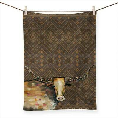 Longhorn Geode Tribal Copper Tea Towel