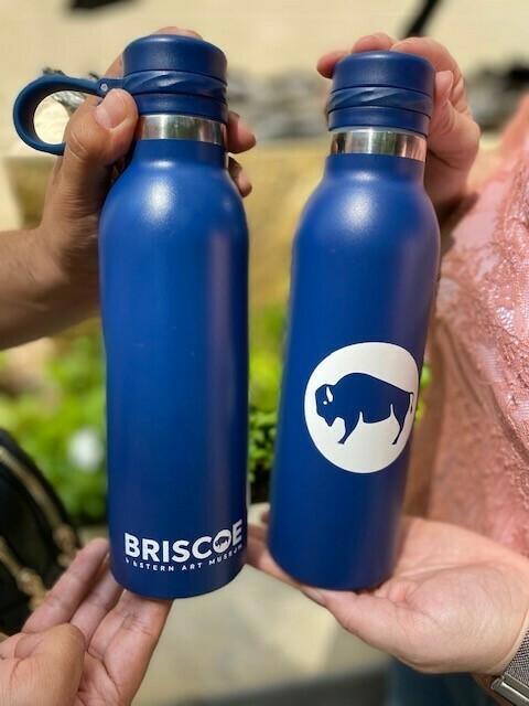 Briscoe Bison Navy Water Bottle