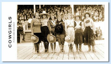 Rodeo Cowgirls Postcard Booklet