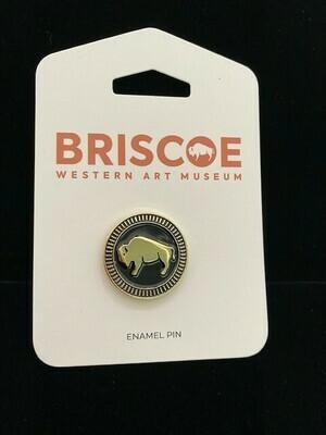 Briscoe Bison Enamel Pin