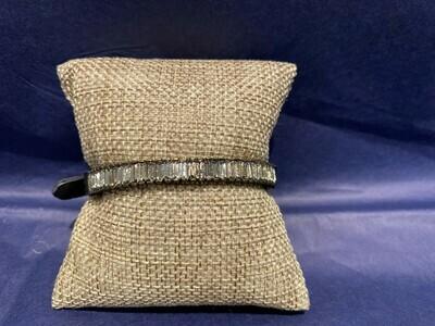 Rebel Designs Crystal Baguette Bar Bracelet