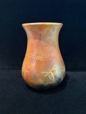 Pahponee Small Dragonfly Petroglyphs Vase