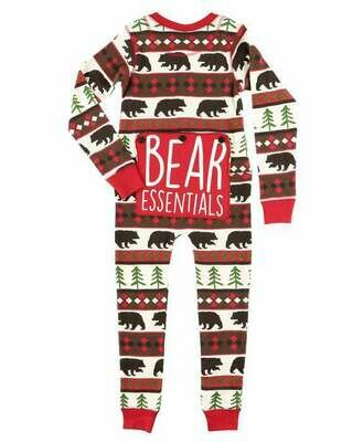 Bear Essentials Onesie Flap Jack 2T