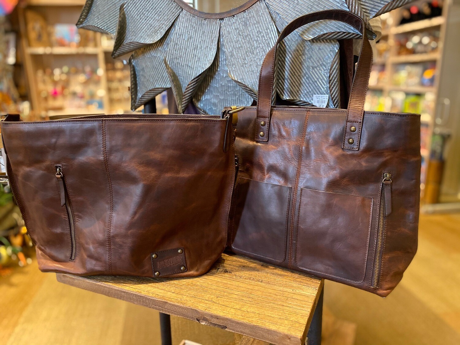 Texas Made Leather Totes Concealed Carry