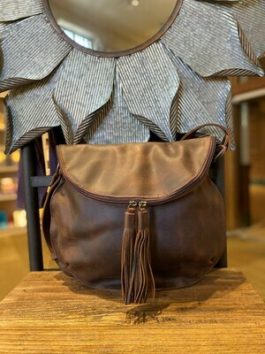 Texas Made All Leather Luna Bag Brown
