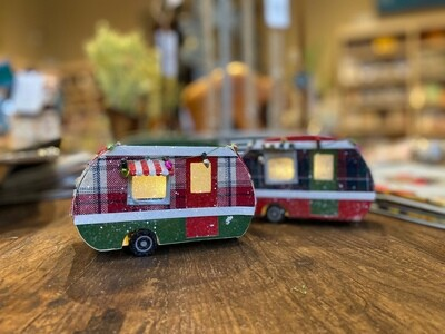 Paper LED Camper Ornament