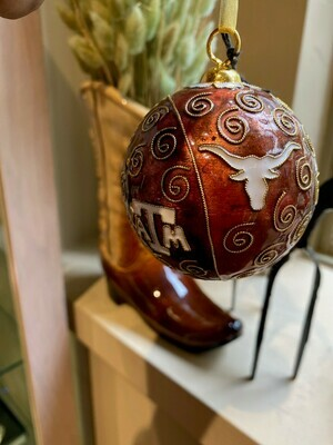 Game Day House Divided U of T and Texas A&M Cloisonne Ornament