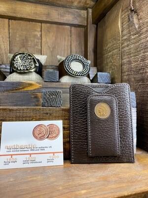 Indian Head Penny Money Clip Wallet