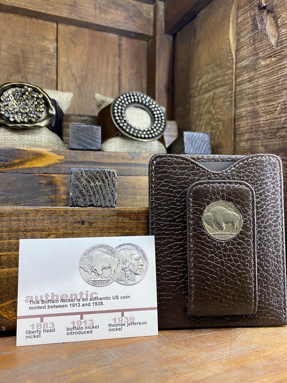 Buffalo Nickle Money Clip Wallet