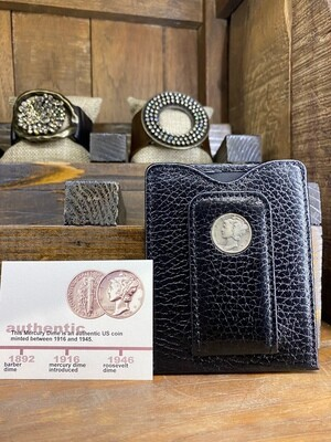 Mercury Dime Money Clip Wallet