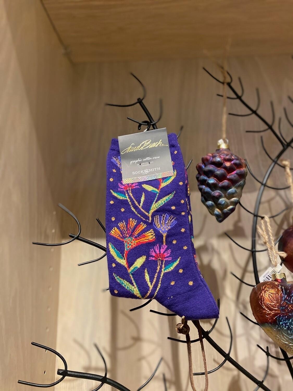 Wildflowers Purple Socks
