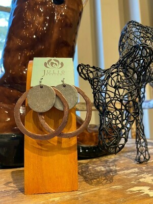 Large Hammered Earrings