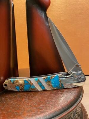 "4"" Liner Lock Gemstone Knife"