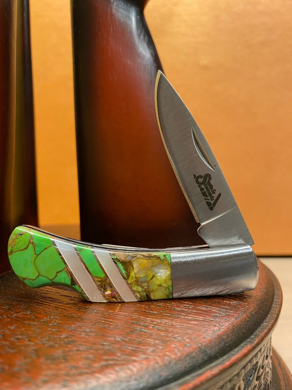 "2 3/4"" Lock Back Gemstone Knife"
