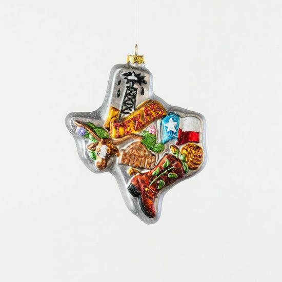 Texas State Blown Glass Ornament