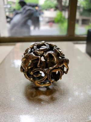 Horse Ring Ball Sterling Silver