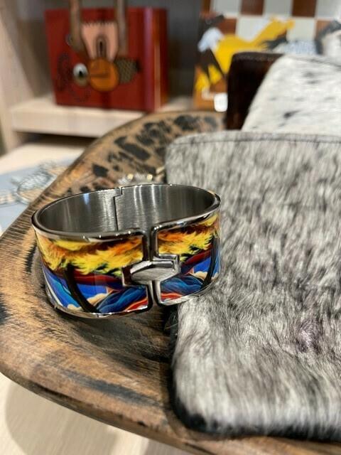 Crucitas Enamel/Stainless Steel Cuff