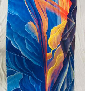 Cloudscape Silk/Cashmere Wrap