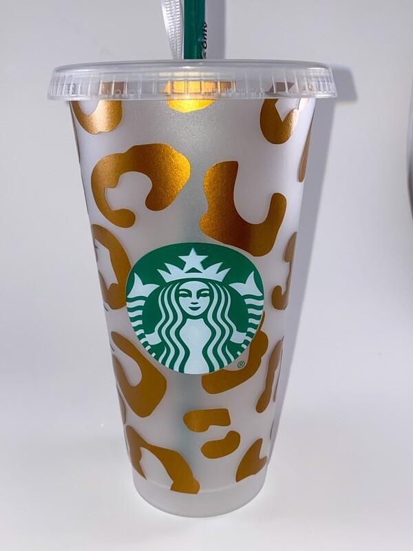 Starbucks Large Leopard Print Cup