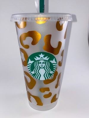 Starbucks Large Leopard Print Cup