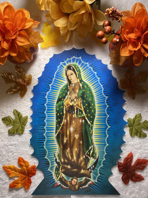 """Virgin Mary Decal 9"""" x 12"""""""