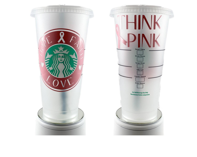 Starbucks  Cancer Awareness - Hope, Faith & Love Cup