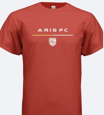 Adult Unisex SS Aris FC Tee (grey/black/red)