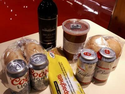 Boîte-repas «spaghetti» - souper pour 4 à préparer (avec bières et vin)