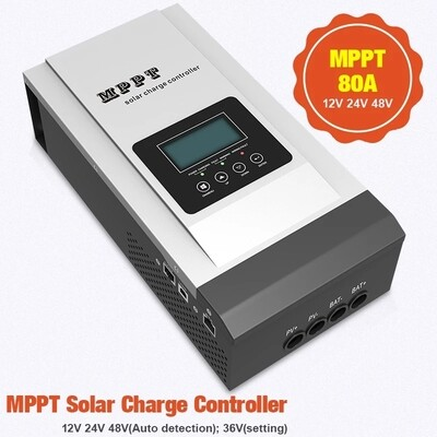 80A 12,24,36,48v Must MPPT Solar Charge Controller