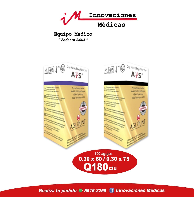 Agujas (APS) con guías 0.30x60 o 0.30x75