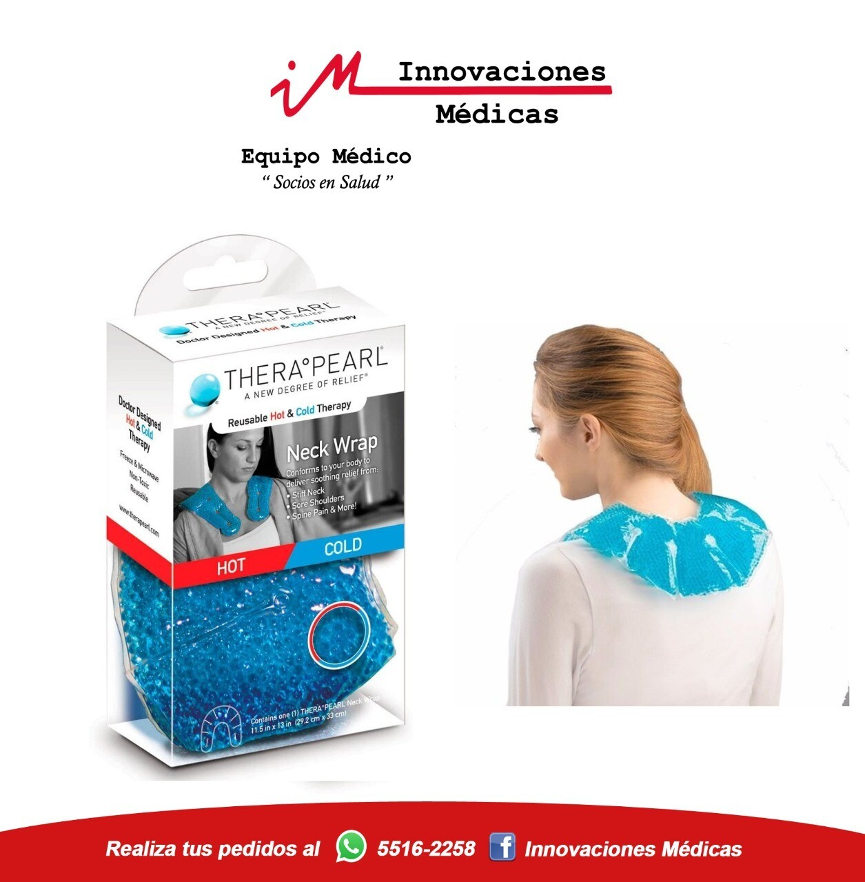 Compresa frío/calor para cuello