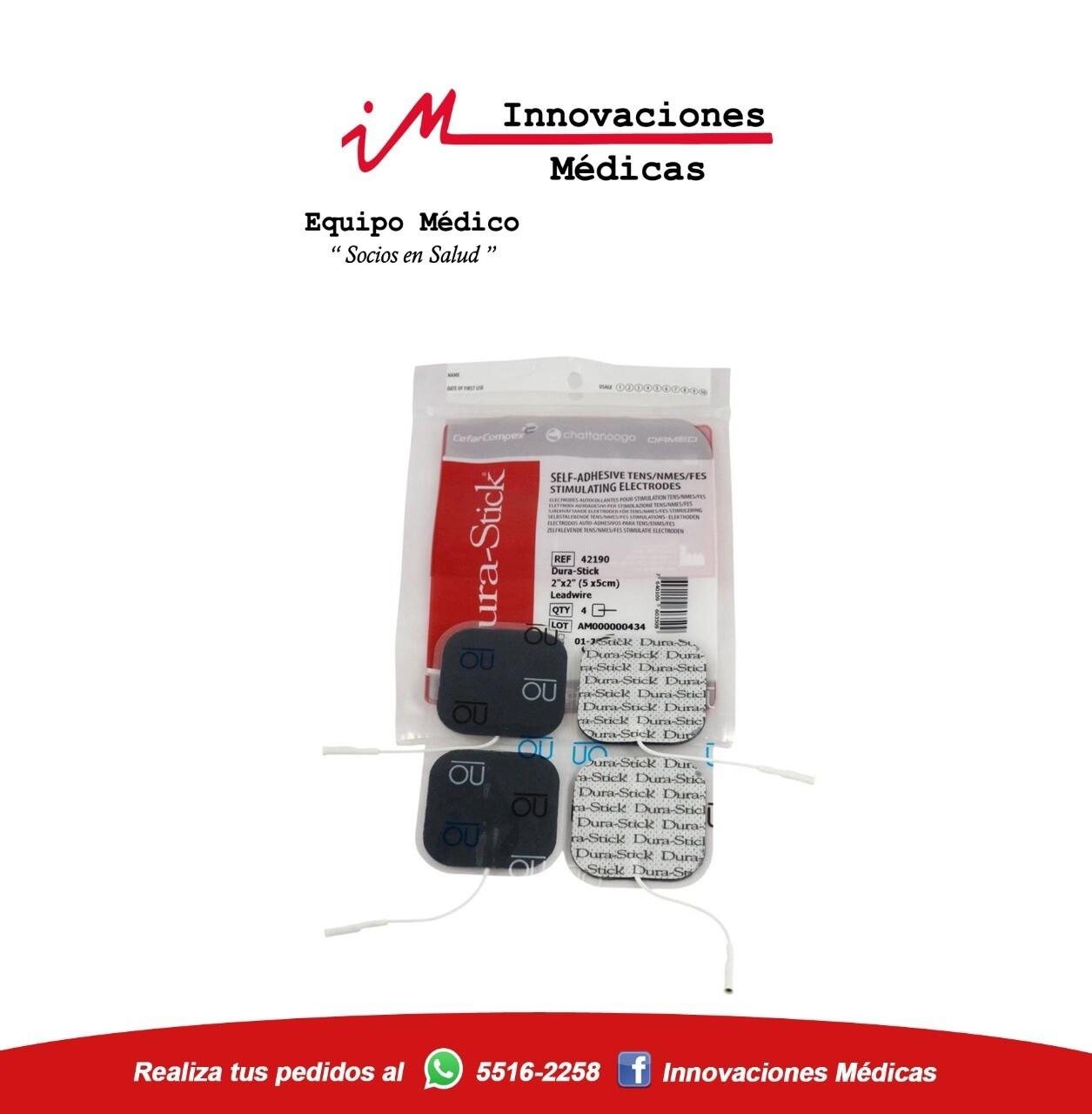 Electrodos DuraStick Pin Cuadrados 5x5cms