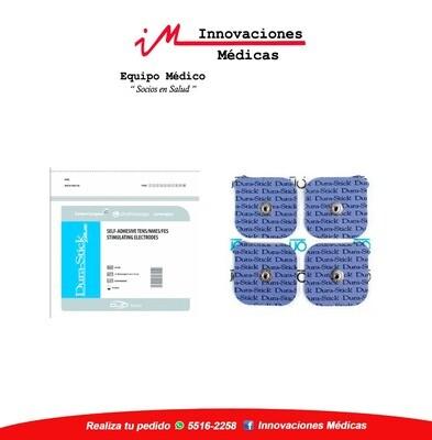 Electrodos DuraStick Plus Cuadrado 5x5cm Broche