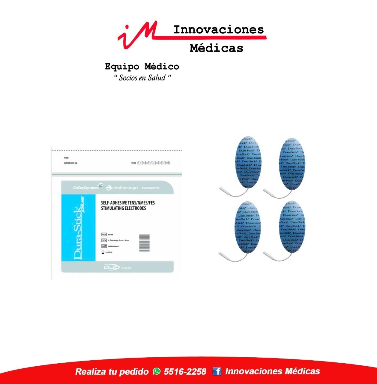 Electrodos DuraStick Plus Ovalados 5x10 cms pin