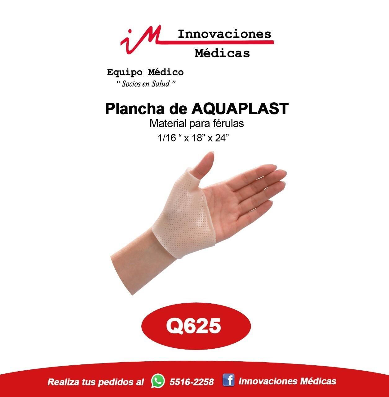 Plancha AquaPlast para férula