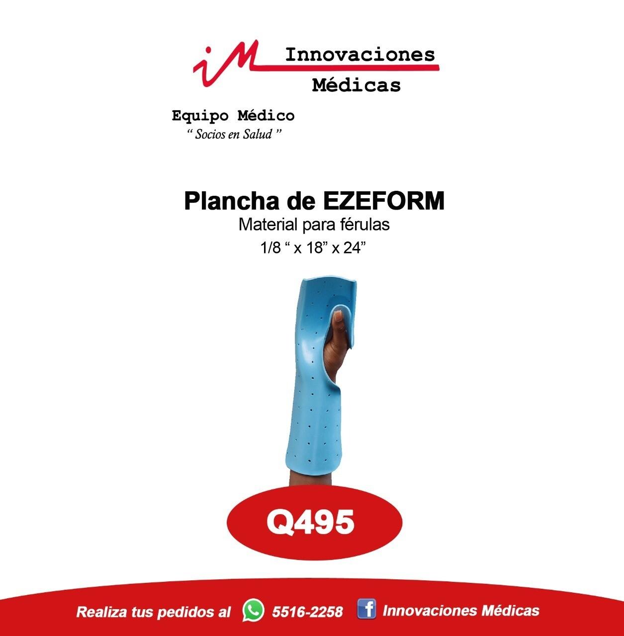 Plancha Ezeform para férula
