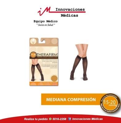 Medias de compresión 15-20mmHg a la rodilla, color negro
